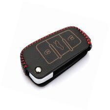 Leather Car Remote Key Holder Case Cover fit AUDI A3 A4 A6 A6L A8 R8 Q7 TT 2006-