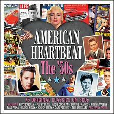 American Heartbeat: The 50s VARIOUS ARTISTS Best Of 75 Songs MUSIC New 3 CD