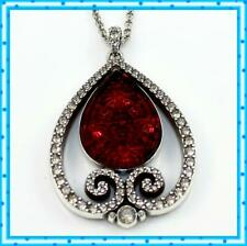 Brighton Sea of Love Color Ruby Red Silver Crystal Pendant Necklace