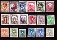 ZYSP 17 AUTRICHE 18 T neufs: Emblèmes du pays, et divers