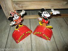 Vente Vilac-Anciennes tirelires Mickey&Minnie-En bois-Grands modèles-Années 80