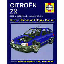 HAYNES CITERON ZX 1991 -1994 H TO M REGISTRATION  PETROL