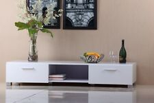 New White High hi Gloss TV Entertainment Unit Stand Cabinet Storage