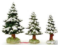 Dept. 56 Snowy Scotch Pines Set of 3 Retired Heritage Village 52615