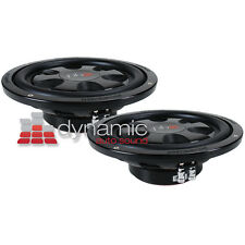 """Two PowerBass S-12TD Car 12"""" Subwoofers DVC 4-Ohm Shallow Thin Mount Subs 1,200W"""