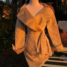 Designer Pilar Rossi Saks Fifth Avenue EPIC Lace Fantasia SEXY Party Dress Xs S