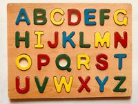 ABC Alphabet Letters Wooden Puzzle Children Kids Learning Educational Toy Gift