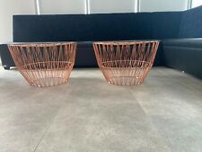 2 x Contemporary wire design coffee tables