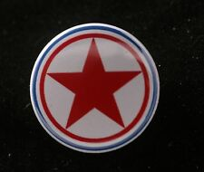 "DPRK North Korea Korean Peoples Air Force Roundel Communist 1"" Button Badge Pin"
