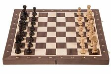 SQUARE - Wooden Chess Set No. 6 - WALNUT- Chessboard & Chess Pieces