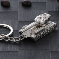 Gifts Punk Alloy Men Tank Shaped Jewelry Key Chains Key Ring Key Holder