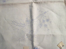 "Vintage 100% Belgian Linen Dresser Scarf Stamped for Embroidery 14"" x 41"""