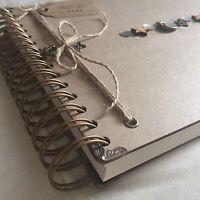 Handmade Personalised Memory Book/ Scrapbook/ Photo Album/ Guest Book A4 Luxury