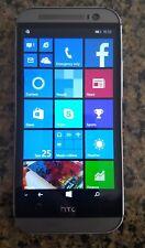 HTC One M8 32GB Gunmetal Gray GSM Unlocked Windows Phone Good Condition