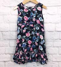 0c387177fda9 Blueberi Boulevard Girls sleeveless dress 4t floral Ruffle Purple Blue  Boutique