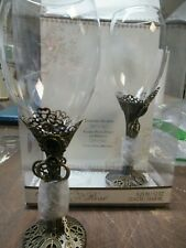 Steampunk Wine Glass Set Wedding Toast Glasses