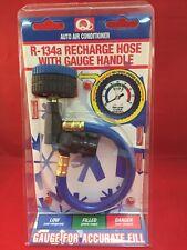 R-134a R-134 R134 AC MEASURING Refrigerant Hose Can Tap + Gauge 401 Gcs
