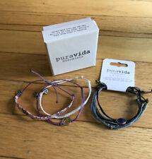 Perfect Gift: Pura Vida Live Free 6 Bracelets Bundle (3-pack & 3 More!) FastShip