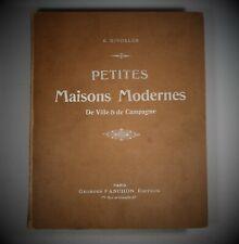 ARCHITECTURE RIVOALEN PETITES MAISONS MODERNES DE VILLE & DE CAMPAGNE 1903 In-4°