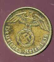 WW2  ALLEMAGNE  5 reichspfennig  1938 A