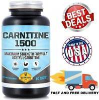 ACETYL L-CARNITINE 1500 mg Max Strength Supports Energy Memory Focus Weight Loss