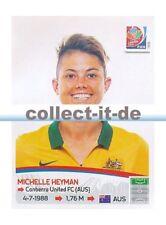 Panini Frauen WM World Cup 2015  - Sticker 286 - Michelle Heyman