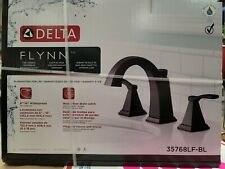 New! DELTA Flynn 35768LF-BL widespread Bathroom Faucets