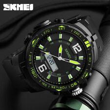 SKMEI Big Dial Dual Time Display Sport Digital Watch Men Chronograph Analog LED