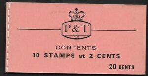 FIJI. 1970, 20c  BOOKLET, SG SB7, MNH, COMPLETE