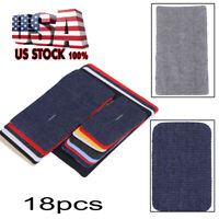 Iron-On Fabric Mend and Repair Patches A Set of 18Pcs for Cloth Jeans Hats Bag