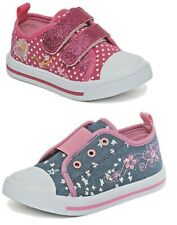 Chatterbox Girls Canvas Pump Infant Trainer Shoe Low Top Padded Summer Size 4-12