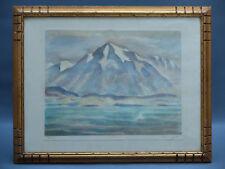 WERNER EMIL HENGEL 1880 -1941 PEINTURE ORIGINAL DRAWING  WATERCOLOUR THUN HODLER