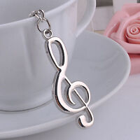 New Music Symbol Note G Treble Clef Pendant Keychain Key Chain Ring Fob Gift WA