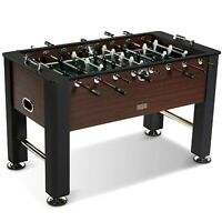 Foosball Soccer Table with 2 Balls Game Room Play Tables Leg Steel Cross Bars