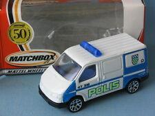 Matchbox Ford Transit Van Polis Police Rescue White Body Boxed