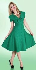 Tatyana Esmeralda Green Circle Swing Dress Rockabilly Pin Up Girl Style Size 3XL