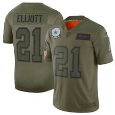 Ezekiel Elliott Dallas Cowboys Nike 2019 Salute to Service Limited Olive Jersey