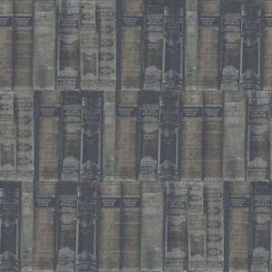 G56134 - Nostalgie Biblioteca Libri Argento Grigio Galerie Carta da Parati