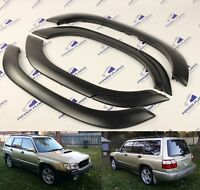 Subaru Forester Fender Flares Wheel Arch Protector JDM Paintable Black Trim 6pcs