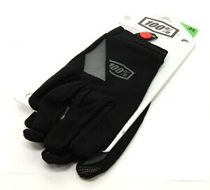 100% Adult RIDECAMP Gloves - Touch Screen - MX ATV Dirt MTB - 2XL, Black/Grey