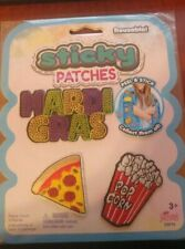 Nuevo Mardi Gras Pizza Pop Corn pegajoso Parches Reutilizable Diversión peculiar Pizza palomitas de maíz