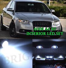 AUDI A4 B7 2004-2008 INTERIOR LED BRIGHT XENON WHITE FULL ERROR FREE LIGHT SET
