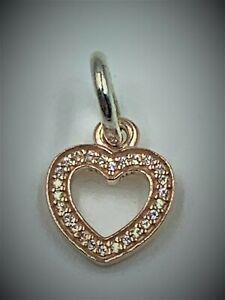 Authentic Pandora ALE 14K Rose Gold Symbol Of Love Charm 791357CZ