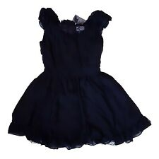New Tripp NYC Gothic Horror Punk 80s 90s Emo Glam Rock Black Mini Dress Size L
