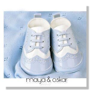 Baby Shoes Pram Christening Traditional T Bar Spanish Style Girl Boy Sneaker UK