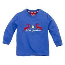 Bondi T-Shirt Herzbube Hirsch Baby Shirt langarm blau  Gr. 62 Trachtenshirt