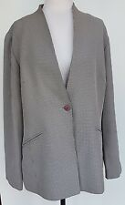 PERRI CUTTEN Navy/Cream Hounds-tooth Jacket Size 14