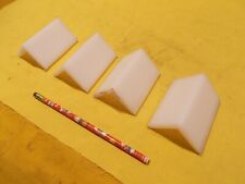"4 pc Lot of Uhmw Angle 1/4"" x 2"" x 2"" x 3"" Long machinable plastic bar stock"