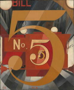 Charles Demuth I Saw the Figure in Gold Giclee Paper Print Poster Reproduction