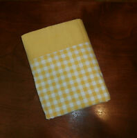 Fashion Manor JC Penney Flat Muslin Twin Gold/White Checked